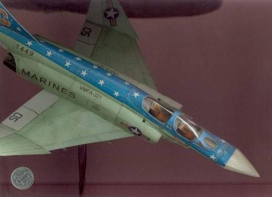 USAF Phantom F-4 Aircraft Paper Model - by Dusan Irokez -- A beautiful paper model of a USAF Phantom F-4 plane, created by Slovak designer Dusan Irokez. The templates are in different sizes. Any question or if you don`t know how to match them, send an e-mail to the author (you find it at the download page).