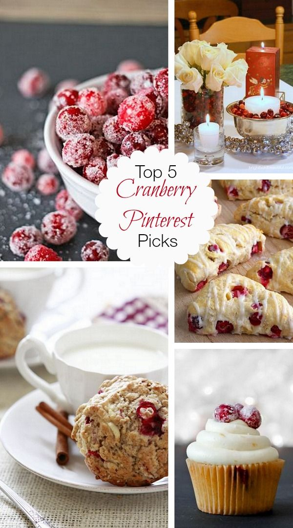 Top 5 Cranberry Pinterest Picks: Yummy desserts made with cranberries