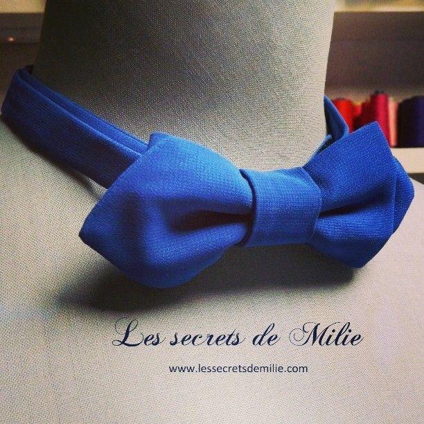 Noeud Cree Par Les Secrets De Milie Noeud Bow Www Lessecretsdemilie Com Https Www Facebook Com Secretsdemilie Noeud Papillon Bow Couture