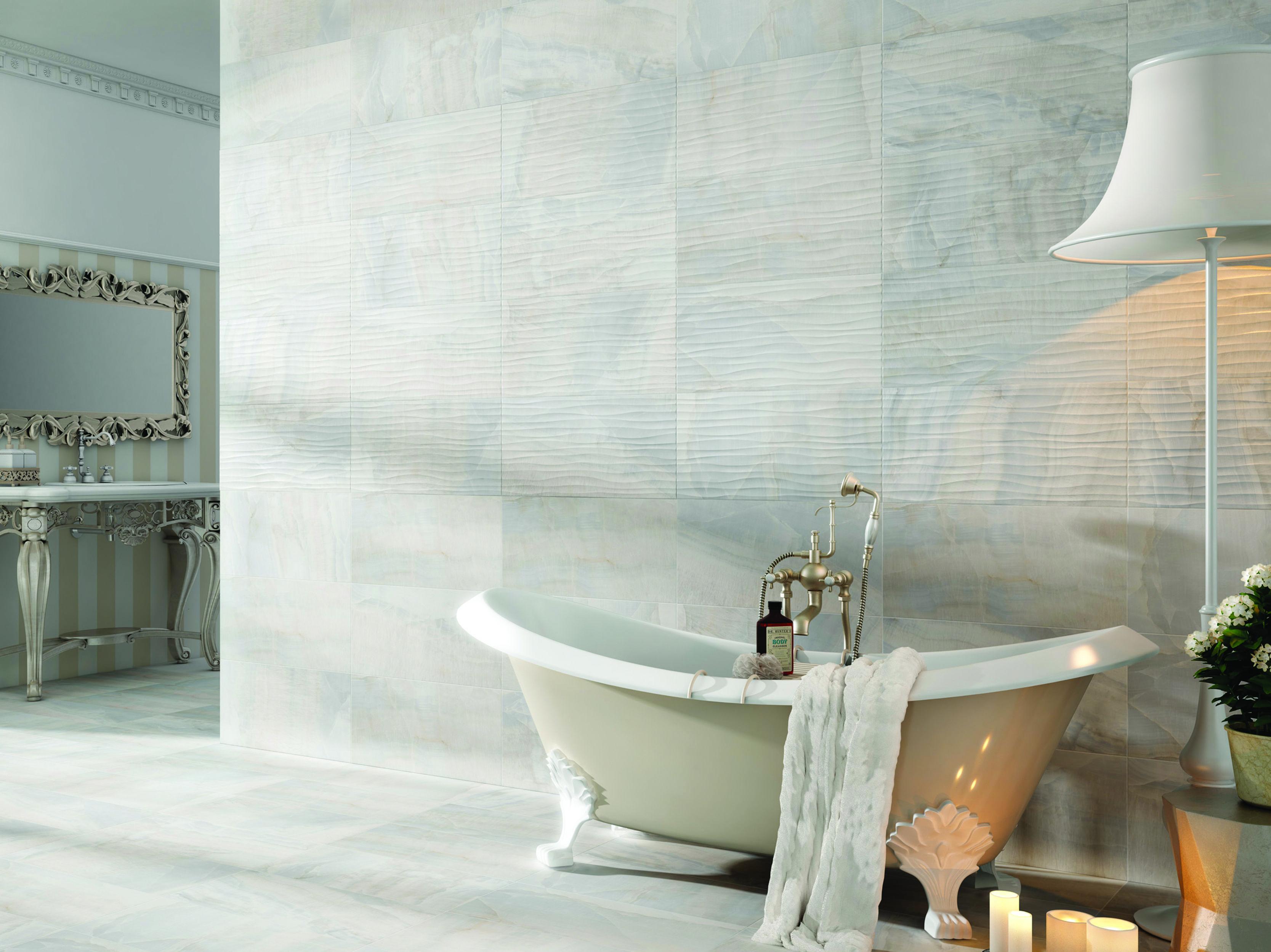 Tilemax Dubai Blanco Plain + Deco   Gray bathroom decor ...