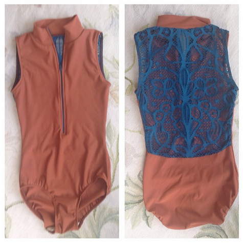 I am in love with the lace on this eleve leotard!
