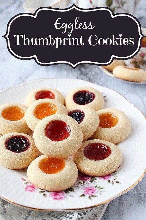 Eggless Thumbprint Cookies  Shortbread Thumbprint Cookies  Rosenmunnar aromaticessence