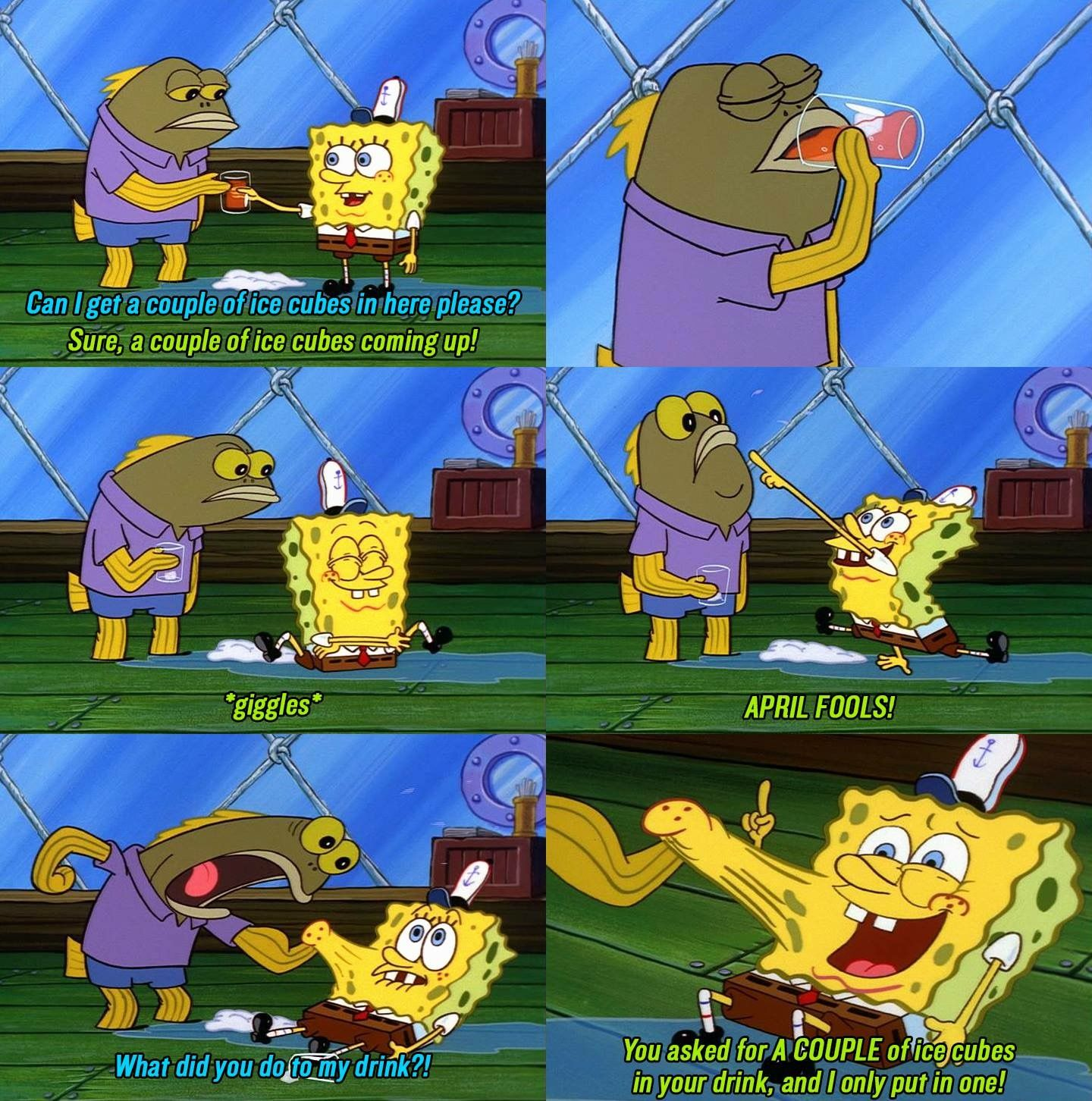 Spongebob April fools joke