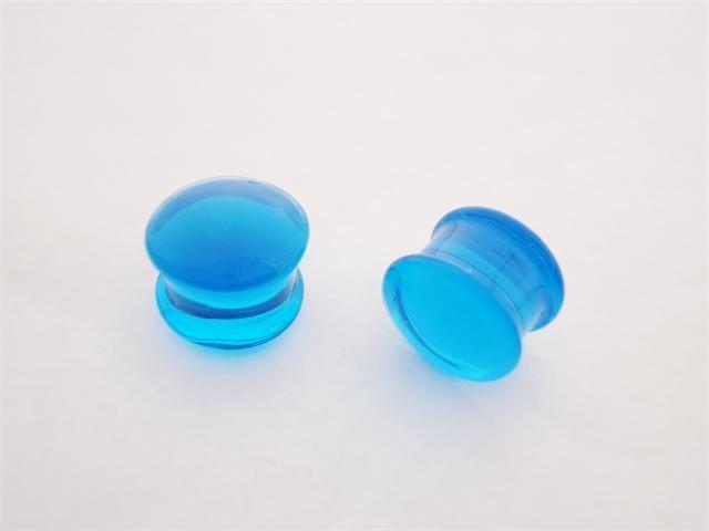 Gorilla Glass SOLID Lt Blue Plugs (1/2 inch)