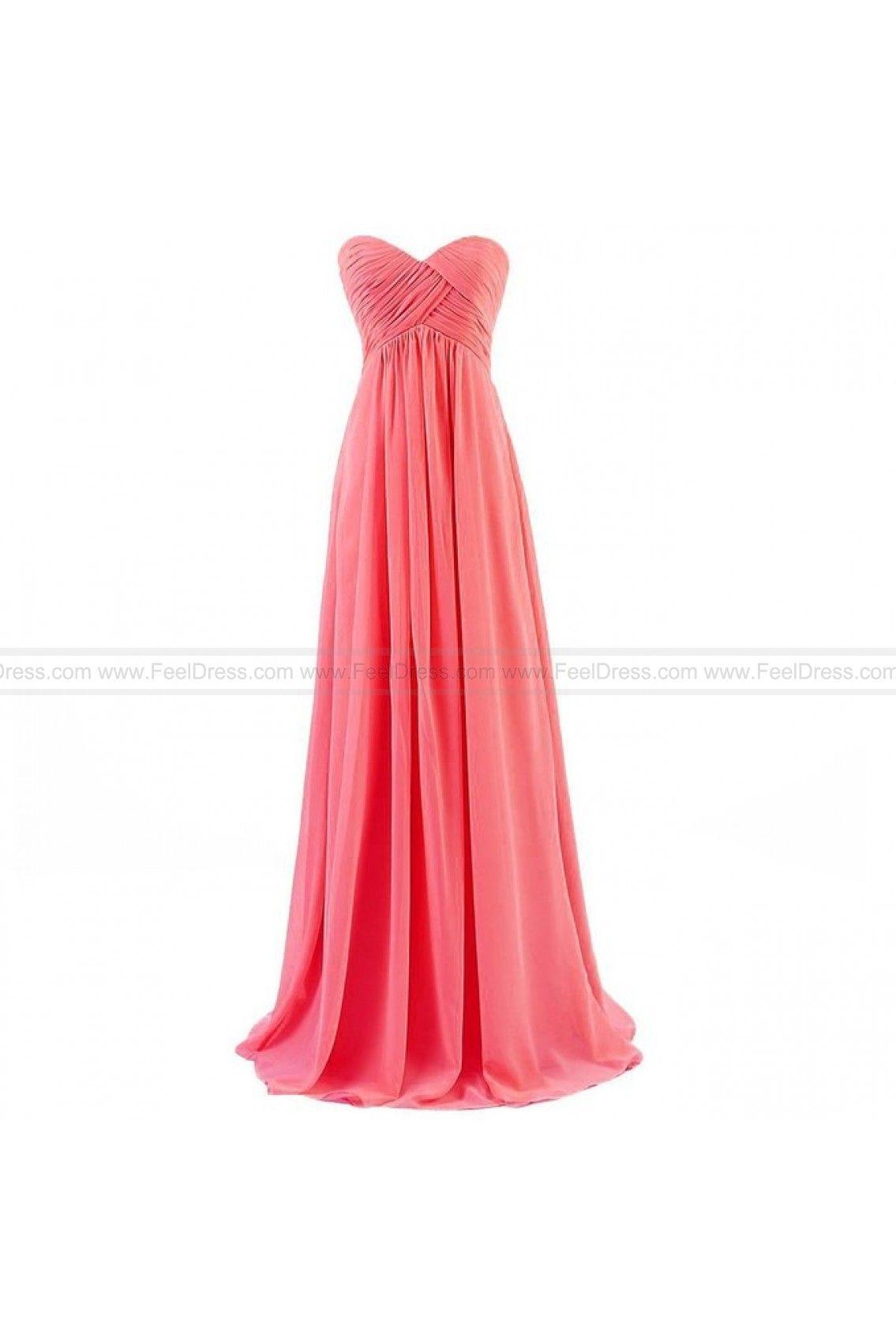 Simple sleeveless chiffon sweetheart floorlength long evening gowns