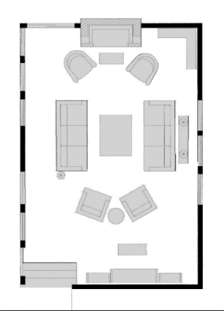 Living Room Layout With Fireplace And Tv On Opposite Walls