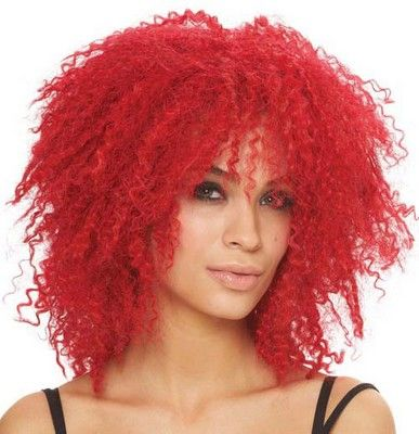 red wigs kinky red curls halloween wig - Red Wigs For Halloween