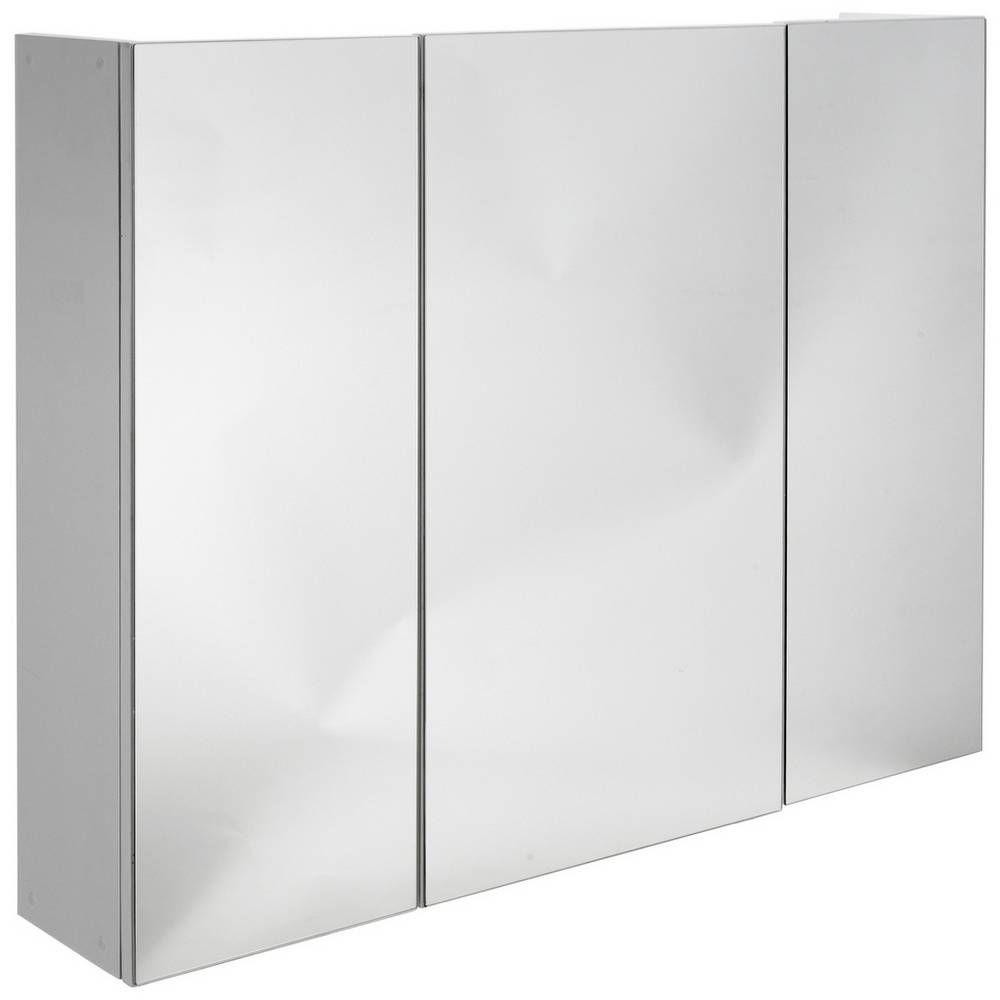 Buy Argos Home 3 Door Mirrored Cabinet - White | Bathroom ...