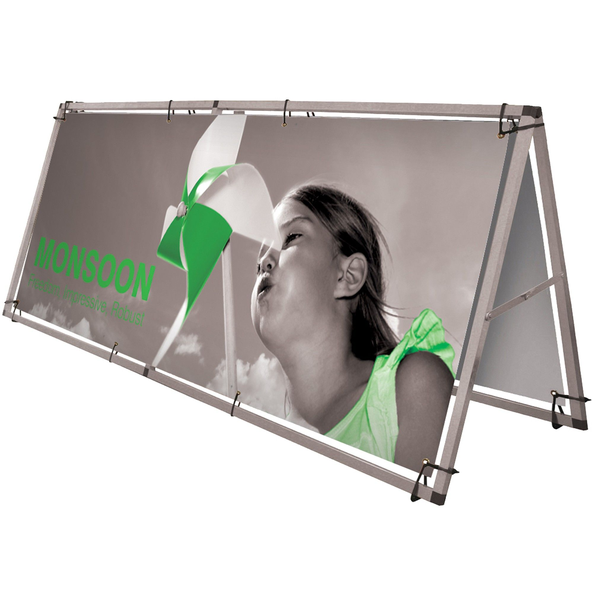 monsoon a frame outdoor banner stand a large format single or double sided banner