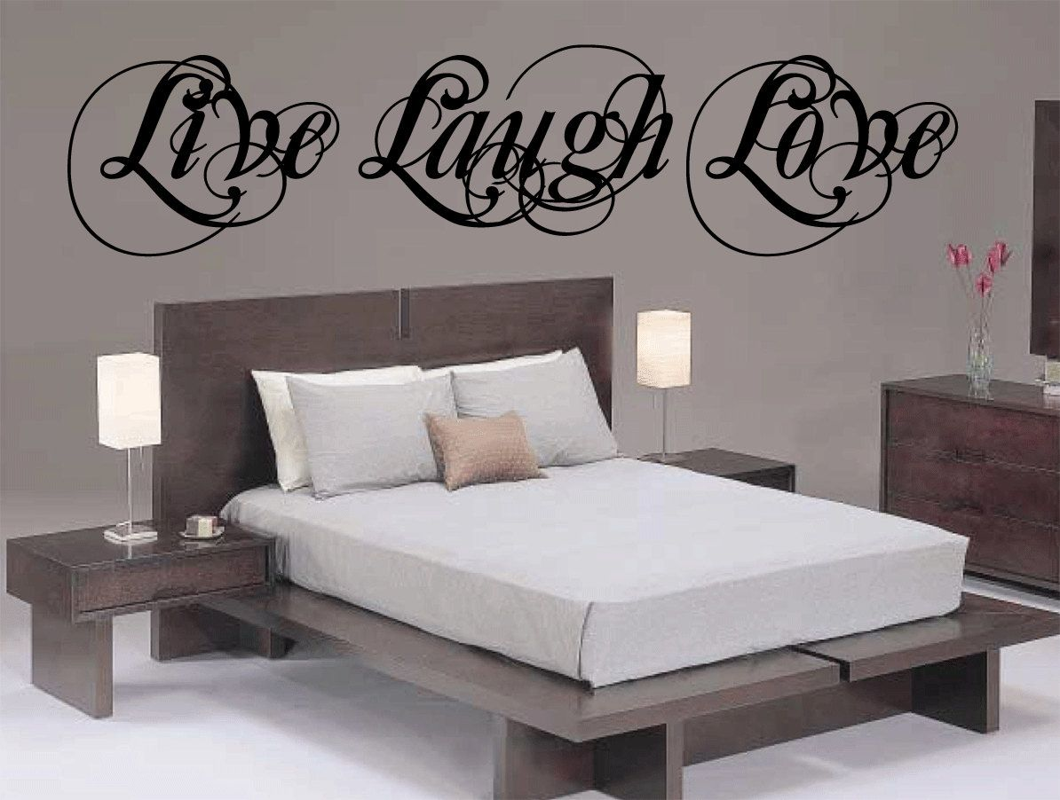 Live Laugh Love Wall Decal Vinyl Sticker Cursive Quote Art Living Room  Dining Room Decor Mothers