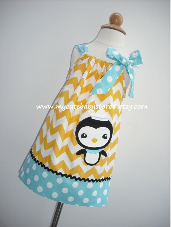 Octonauts Peso Penguin Applique Pillowcase by mycutebabystore1 ...