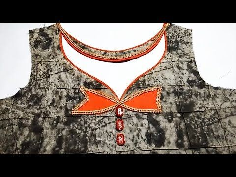 Kurti (suit) Front Neck New Design cutting and stitching 2017 to 2018 -  YouTube 174c1b1ed