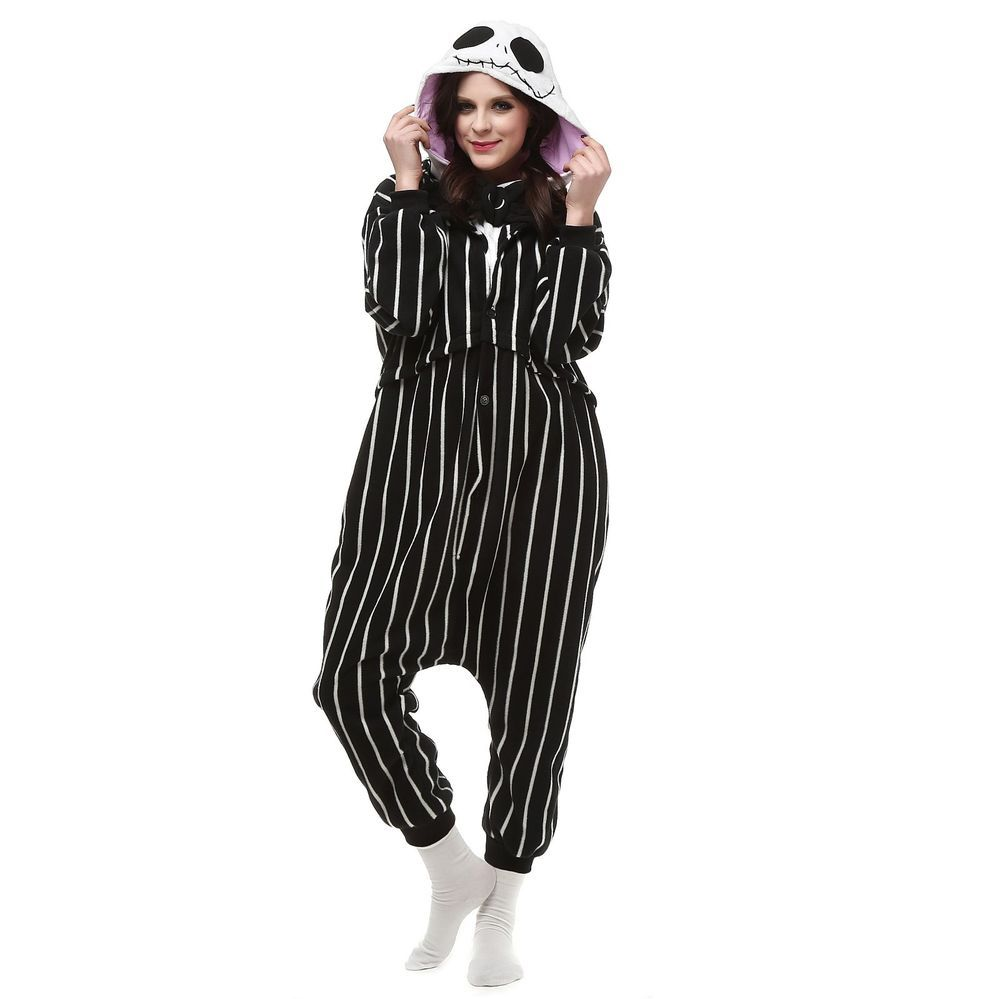 Nightmare Before Christmas JACK Kigurumi Pajamas Costume Adult ...