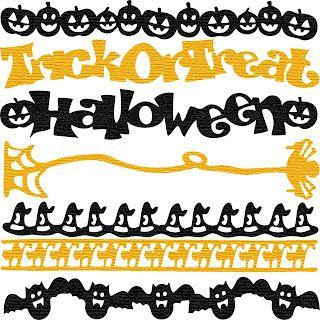 Free SVG Halloween Borders