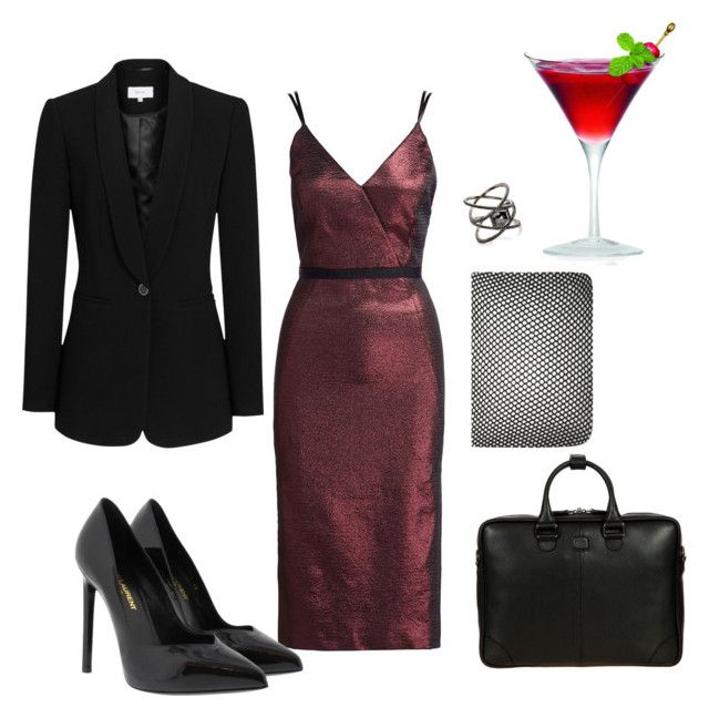 """""""Happy Hour"""" by diamond-77-fire on Polyvore featuring Cinq à Sept, Yves Saint Laurent, Reiss, Eva Fehren and Bric's"""
