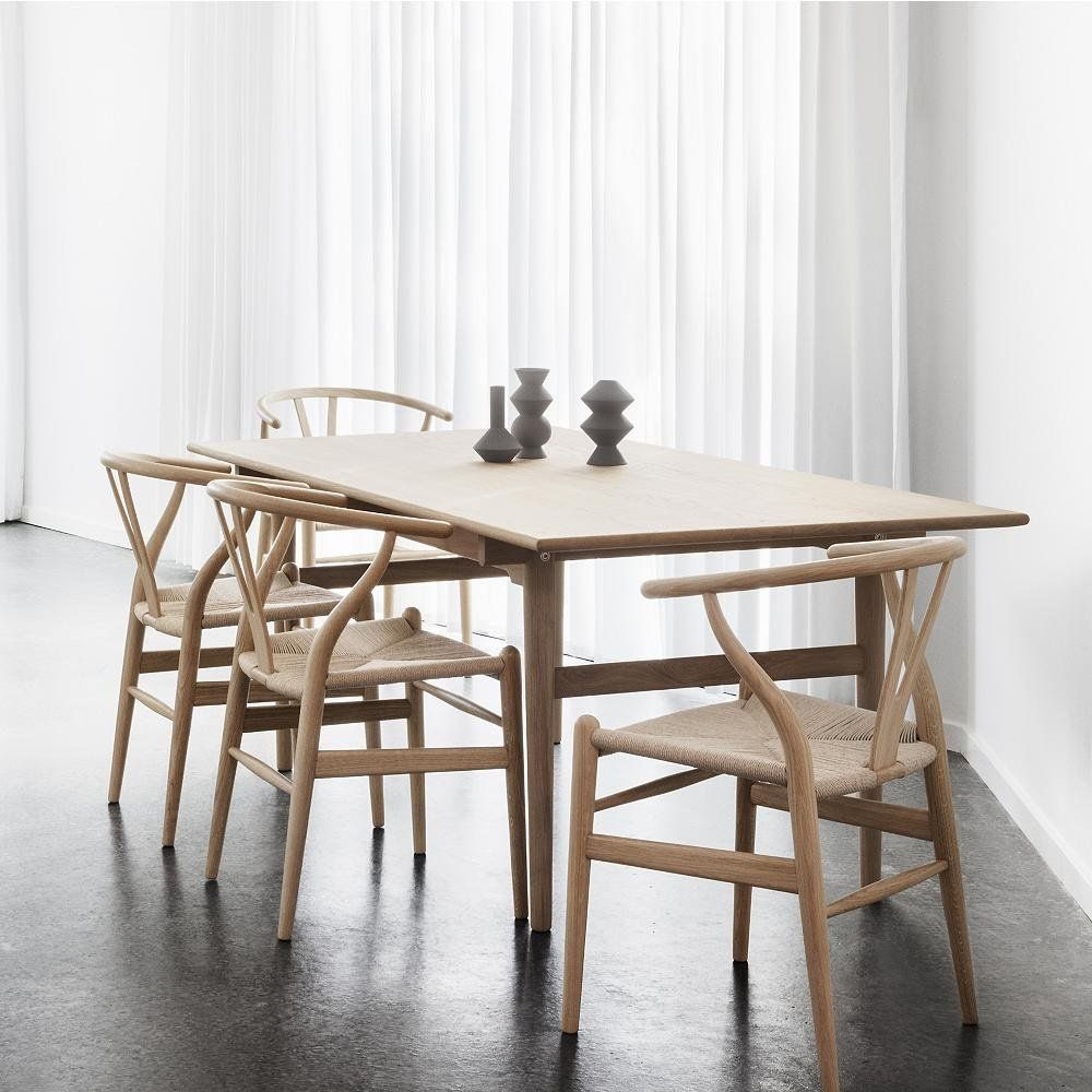 Shop Ch24 Wishbone Chair By Carl Hansen Ch327 Dining Table By