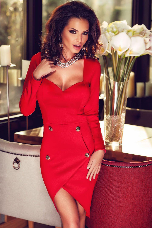 b417078e7c528 Boldgal Red One-Piece Fashion Party Mini Dress | Western Dresses ...