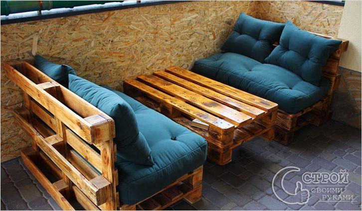 Мебель из поддонов своими руками : рекомендации по изготовлению и фото