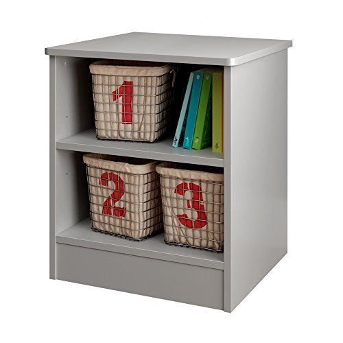 Best South Shore Libra Nightstand With Storage Soft Gray Sout 400 x 300