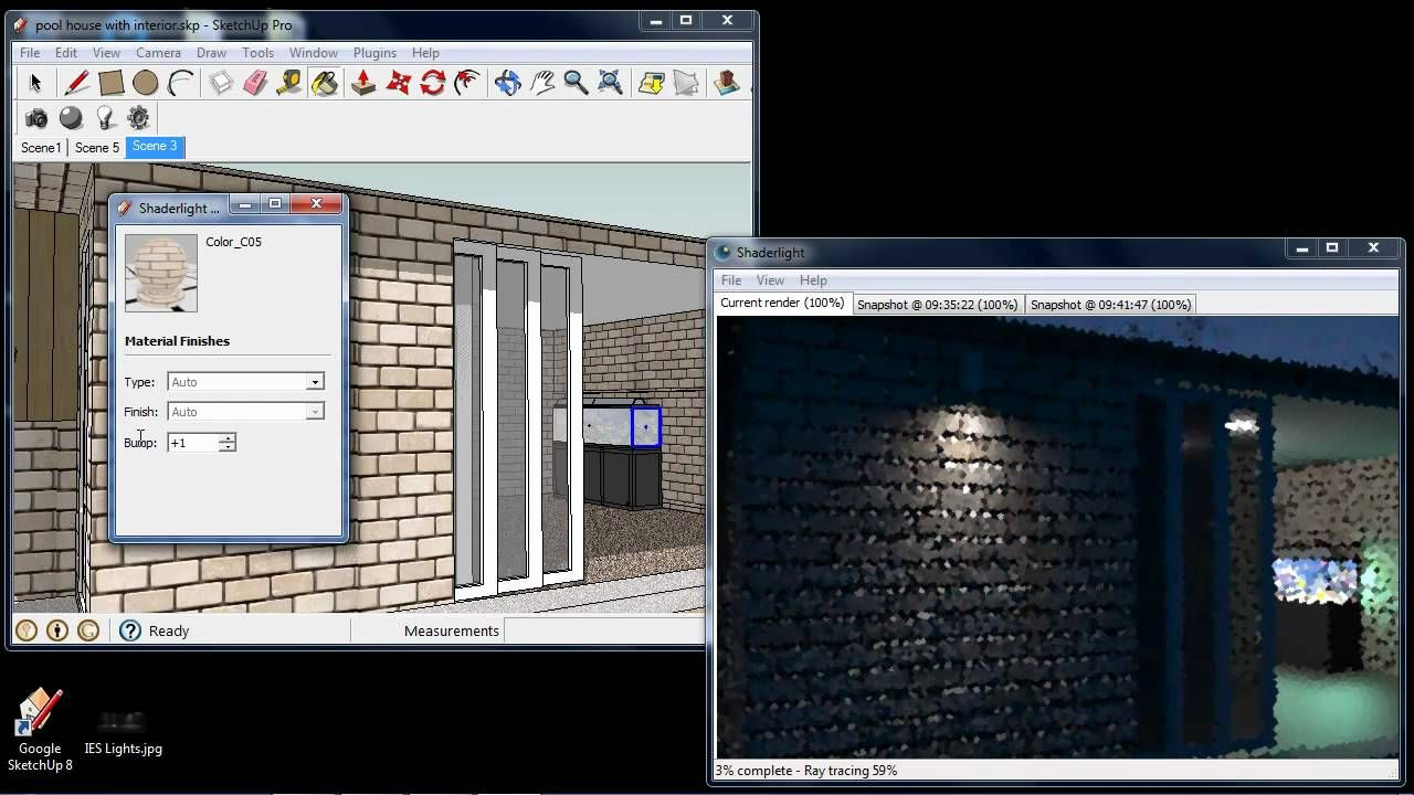 Shaderlight For Sketchup Demonstration Of Features Architecture