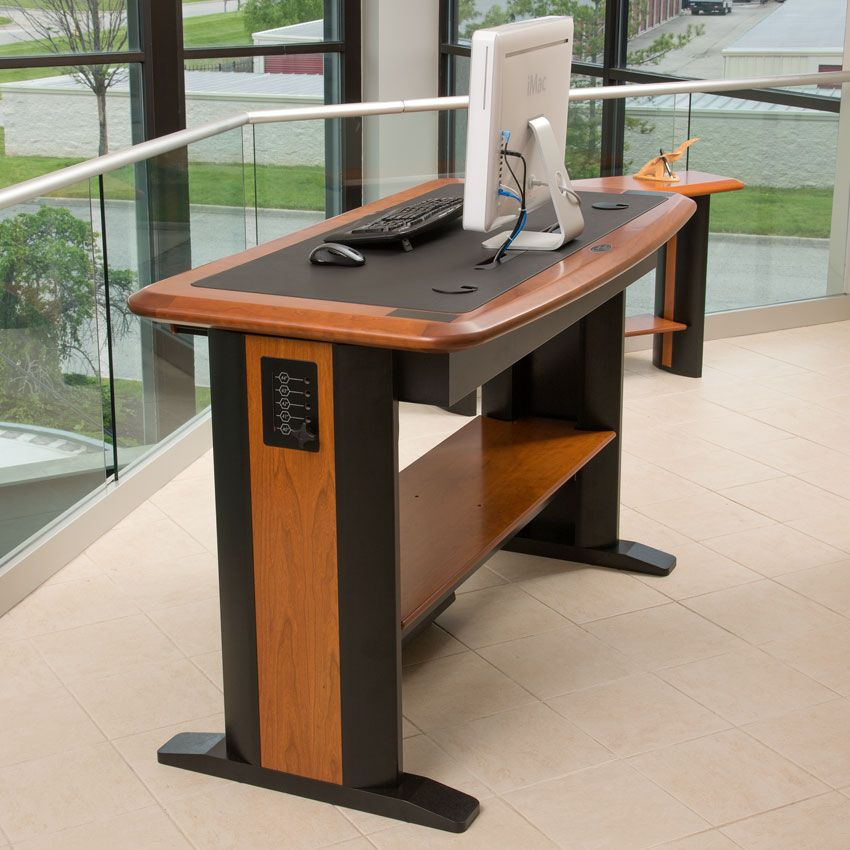 Caretta workspace standing computer desk 2 standing desks pinterest desks cable wire and - Stand up office desk ...