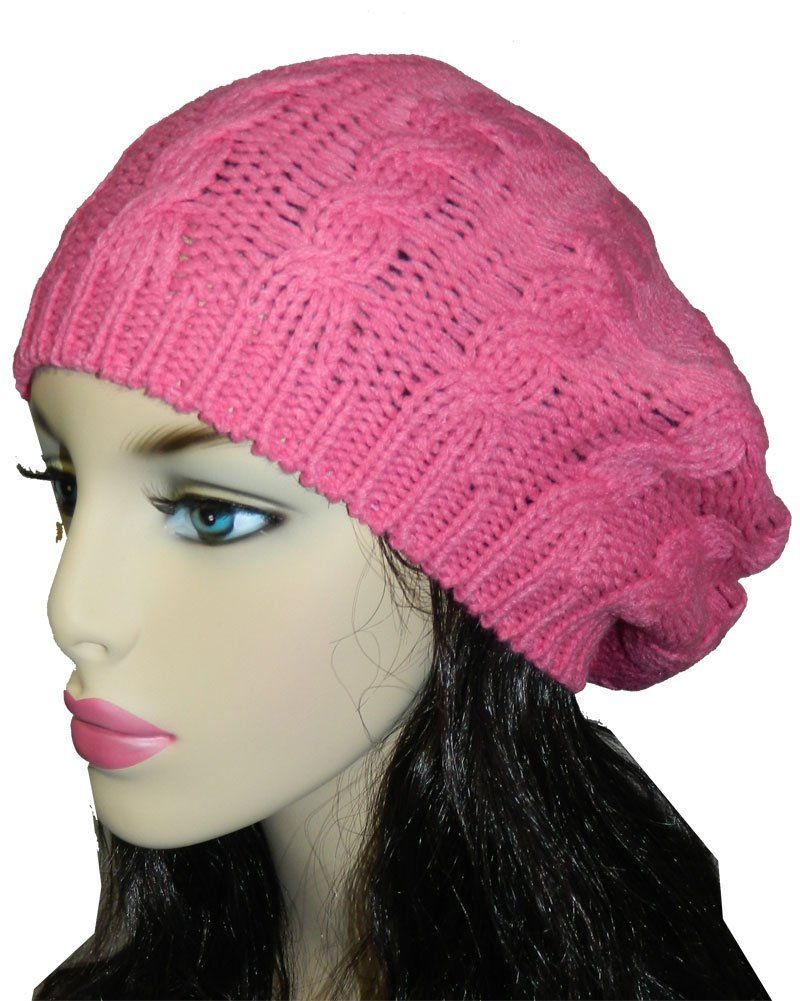 Women Lady Winter Warm Knitted Crochet Slouch Baggy Beret Beanie Hat Cap           ($12.95) http://www.amazon.com/exec/obidos/ASIN/B00F2ZX4VK/hpb2-20/ASIN/B00F2ZX4VK The color is a dark grey. - This came just a few days ago way before the estimated date it was supposed to arrive I was thrilled when it came! - Fits great, looks very cute.