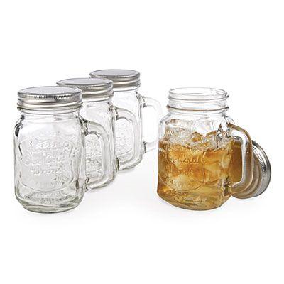 glass mason jar mugs with lids 8 piece set at big lots biglots christmas like crazy. Black Bedroom Furniture Sets. Home Design Ideas
