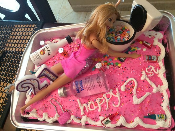 21st Birthday of Hot Mess Barbie Cake  #DiyCraftseasy #diyinspiration #diytrends #diyututorial #21stbirthdaydecorations