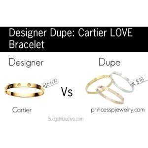 Designer Dupe: Cartier LOVE Bracelet