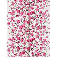 Buy Marimekko Lumimarja Wallpaper Online At Johnlewis Com Wallpaper Red Wallpaper Powder Room Wallpaper