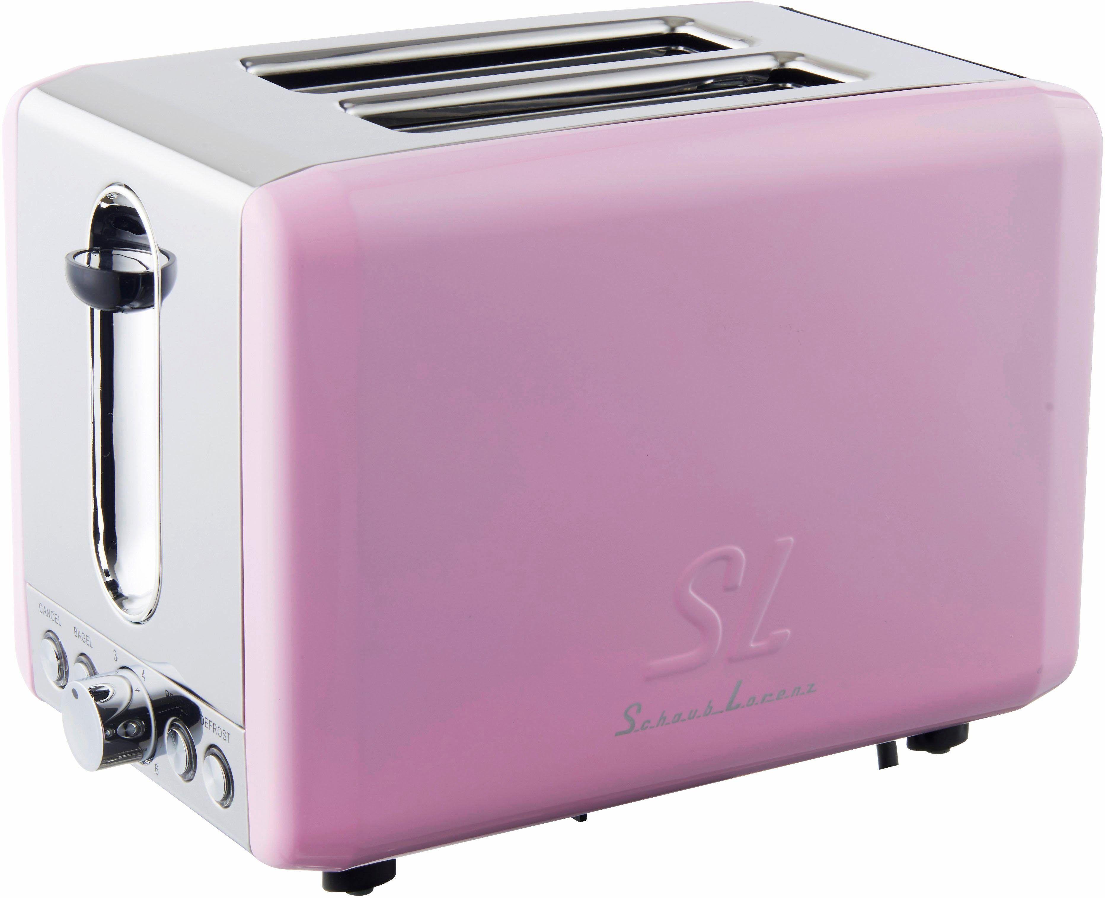 Schaub Lorenz Toaster SL T2.1SP, 850 Watt, pink, rosa | Küchengeräte ...