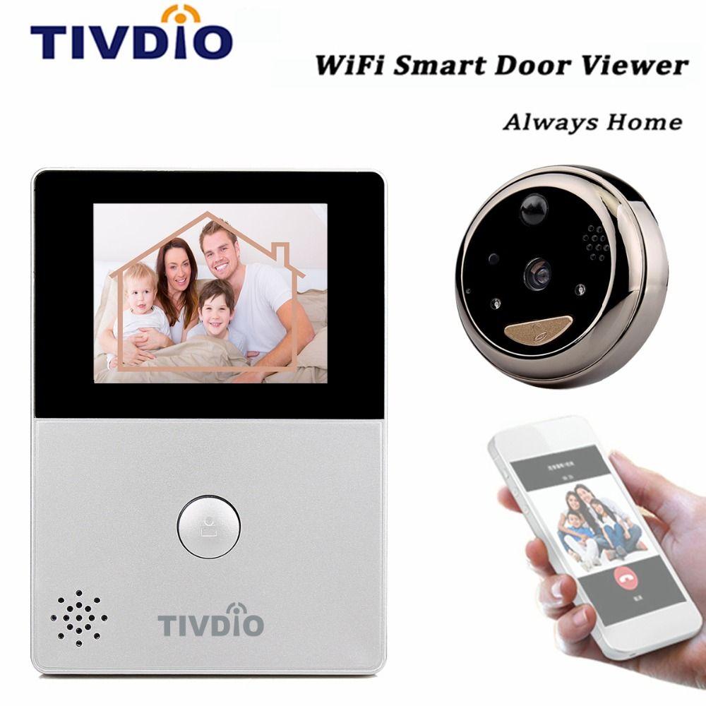 Tivdio Wifi 28 Oled Hd Screen Monitor Door Viewer Front Door