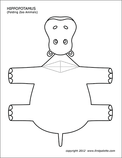 Folding Zoo Animal Templates Free Printable Templates Coloring Pages Firstpalette Com Animal Templates Zoo Animals Zoo Animal Coloring Pages