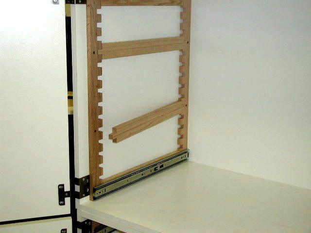 Make Adjustable Height Full Extension Shelves For Inside