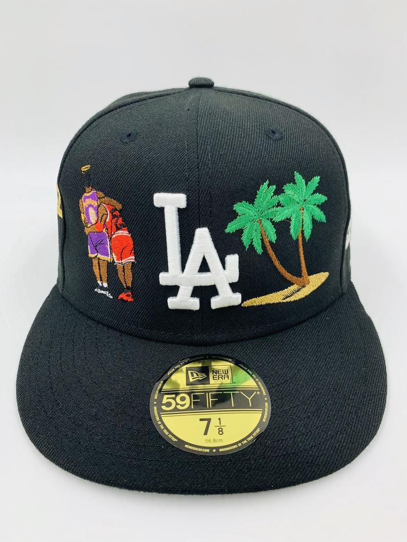Exclusive Custom 2021 Los Angeles Dodgers Kobe Bryant Tribute Series 5 New Era Cap 5950 Fitted Custom Fitted Hats Fitted Hats Outfits With Hats