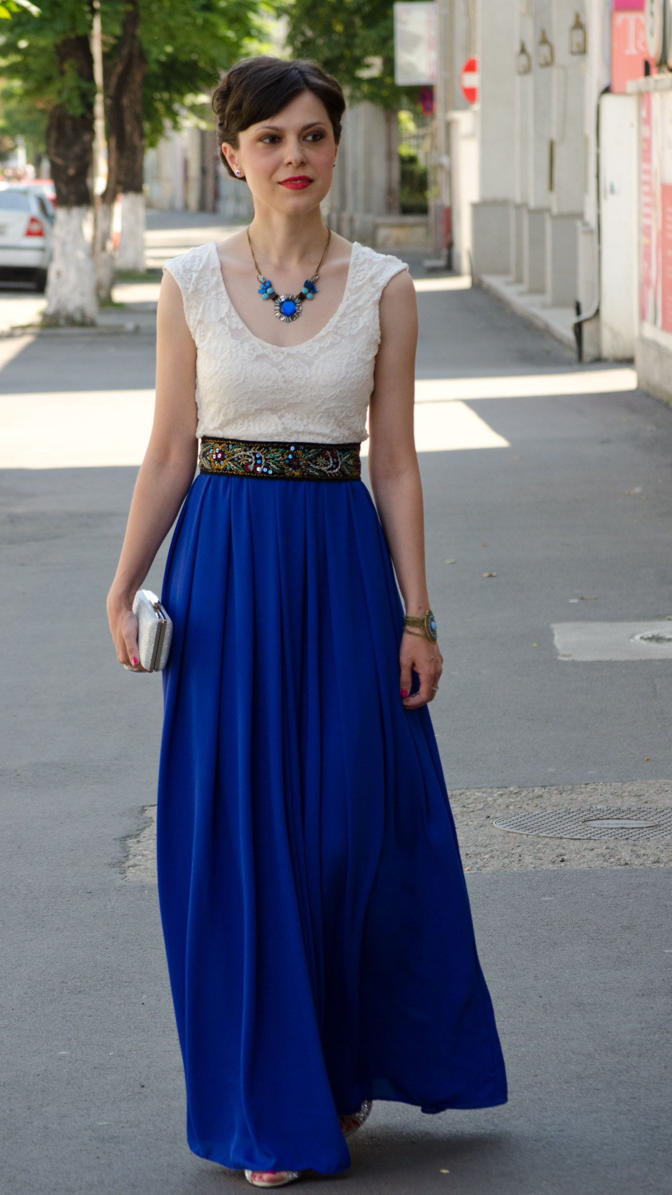 Maxi cobalt blue wedding dress outfits pinterest cobalt blue