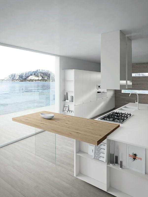 Plan de travail en bois lequel choisir home decor - Cuisine blanche avec plan de travail bois ...