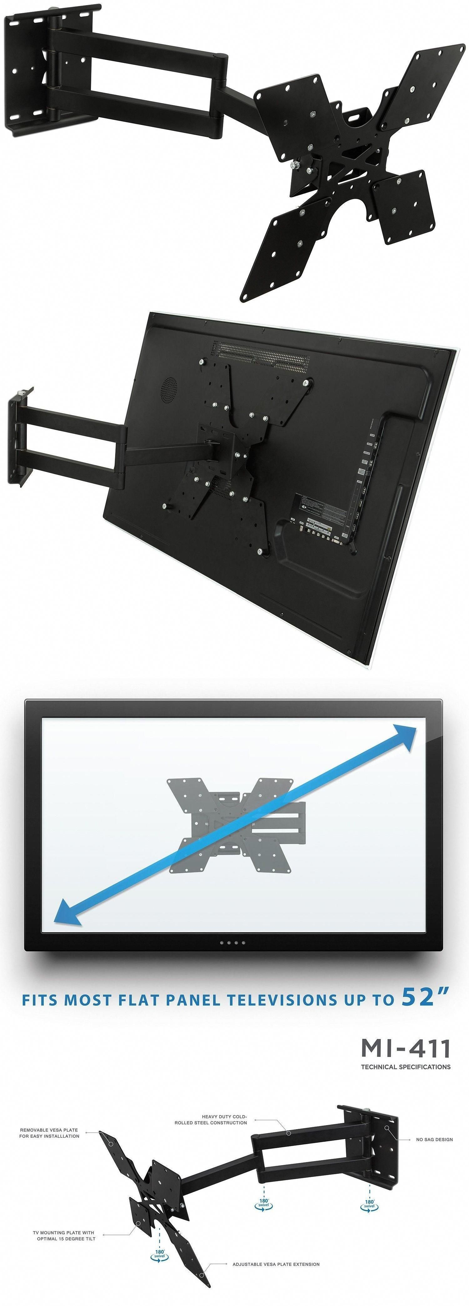 Tv Mounts And Brackets Mount It Tv Wall Mount Bracket With Full Motion Swing Out Tilt And S Diy Tv Wall Mount Tv Wall Mount Bracket