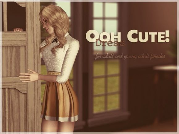 Ooh Cute Dress at Sims Studio - Sims 3 Finds
