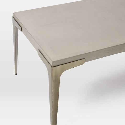 concrete side table. Brass + Concrete Coffee Table | West Elm Side