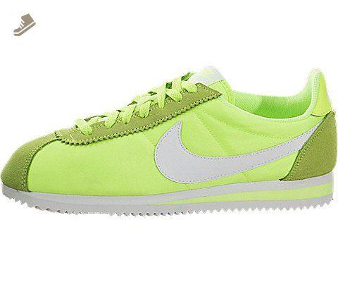 new style 08e62 55203 Nike Women's Classic Cortez Nylon Ghost Green/White Casual ...