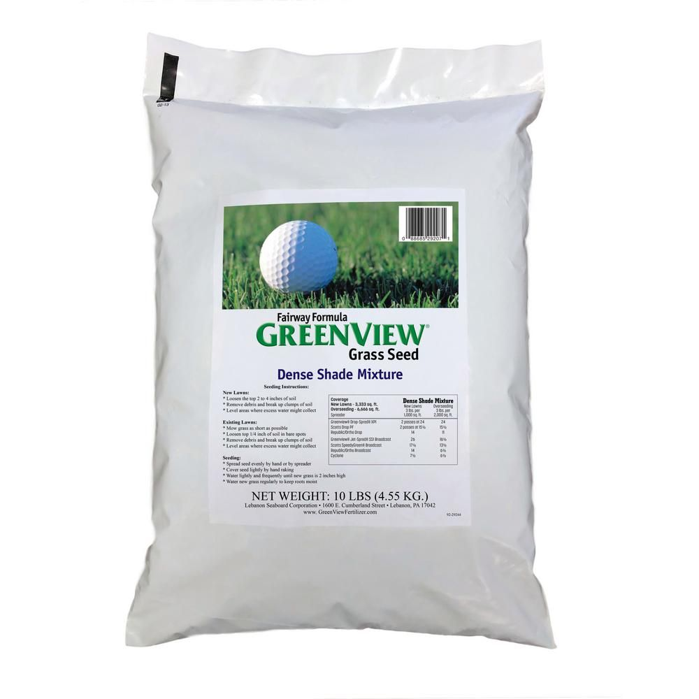 Incredible Greenview 10 Lb Fairway Formula Dense Shade Grass Seed Home Interior And Landscaping Dextoversignezvosmurscom