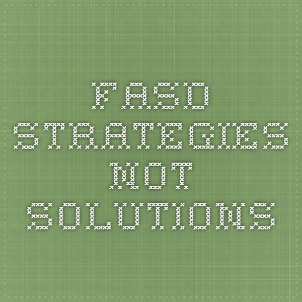 FASD Strategies not Solutions---This is the best booklet of