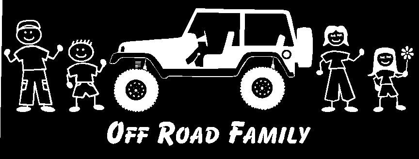 Jeep Off Road Family Car Decal Custom Made By Stickersbydesign