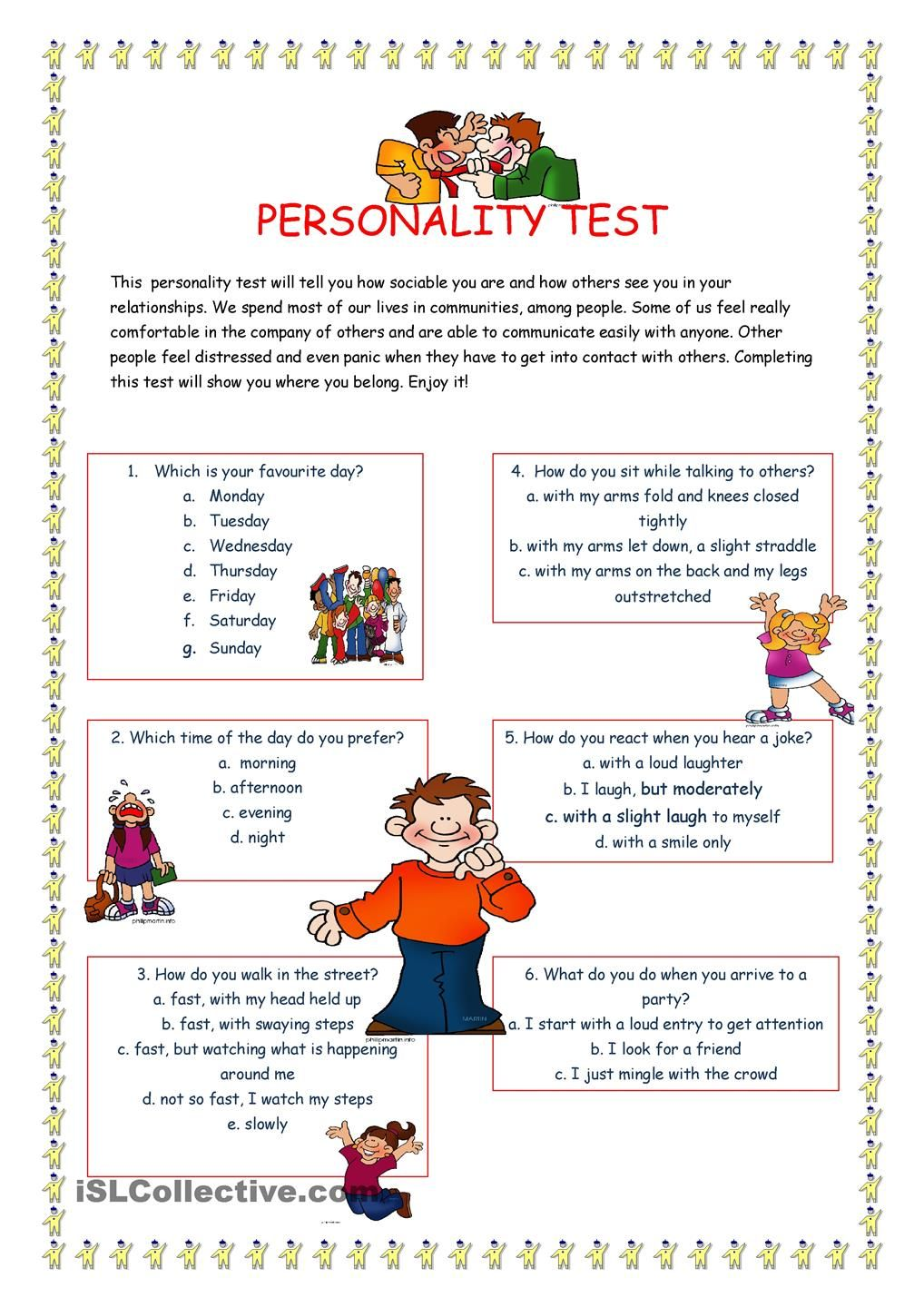 Personality Test I Esl Pinterest Personality Tests