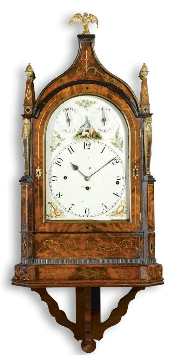 A Brass Inlaid Mahogany Chiming Bracket Clock William Preddy Langport Circa 1825 10 Inch Painted Dial With Music Bracket Clocks Antique Clocks Vintage Clock