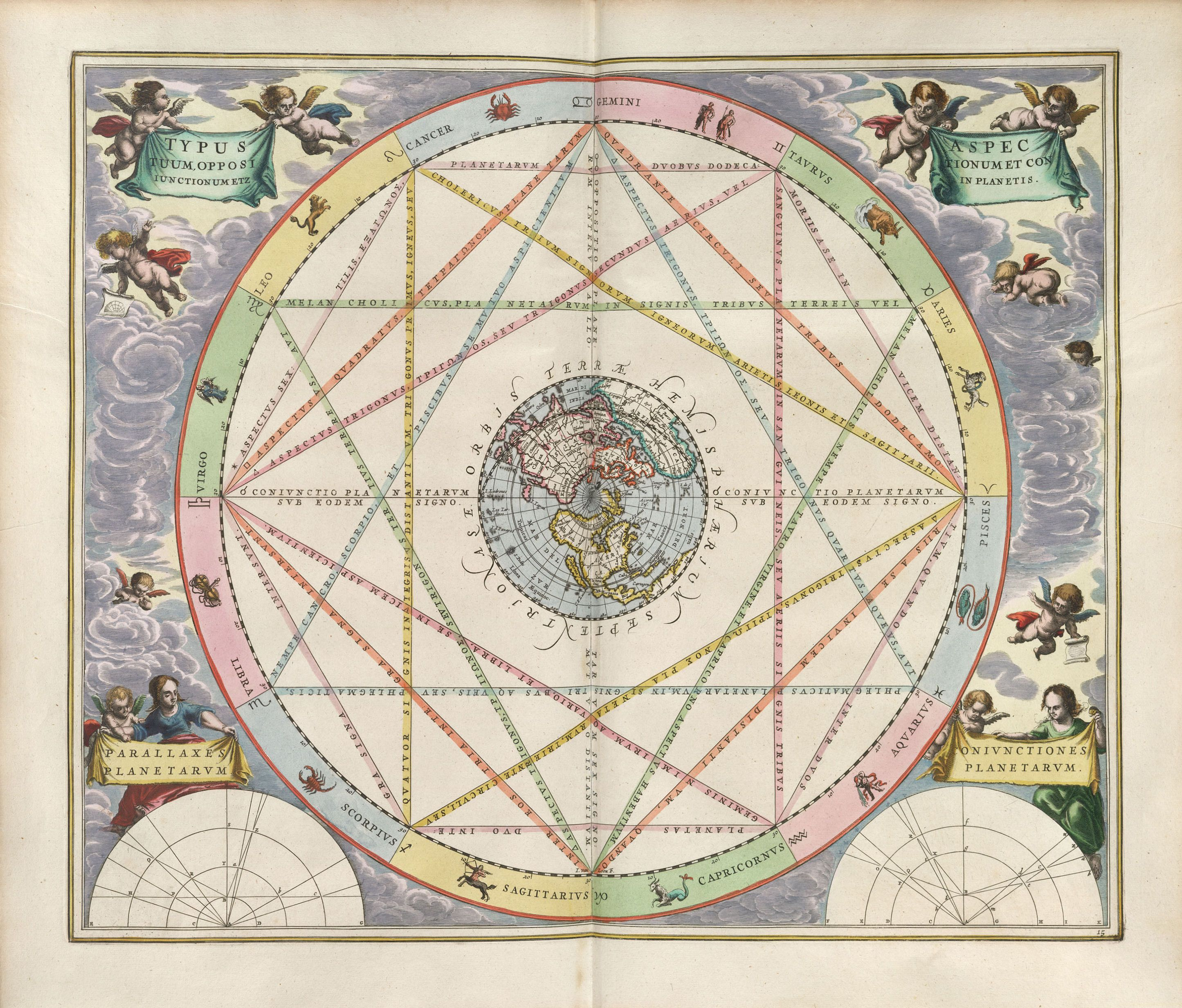 Zodiac signs horoscope symbols astrology signs chart the zodiac signs horoscope symbols astrology signs chart the cellarius harmonia macrocosmica nvjuhfo Image collections