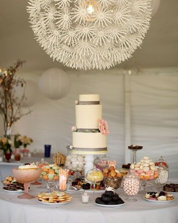 Chic wedding table with a white paper lantern #wedding #weddingdecor #desserttable #weddingdessert #diywedding