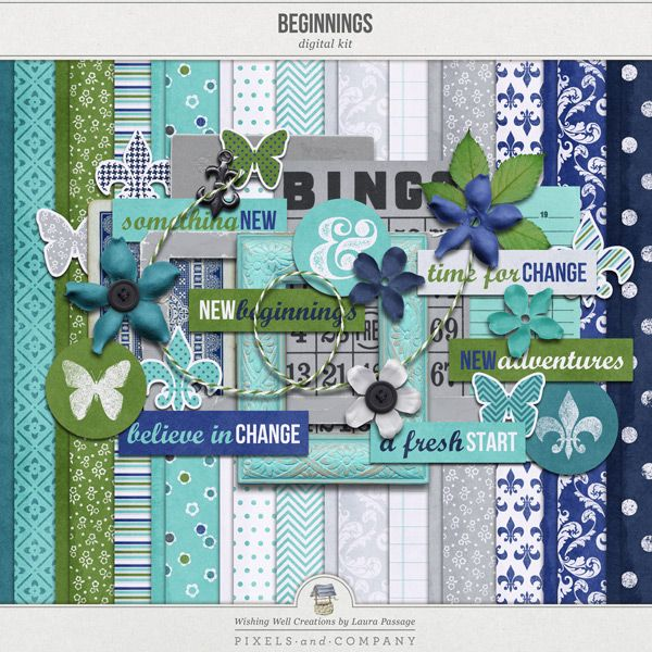 Creations By Laura: WWC__Beginnings-Kit_600; Note- Wishing Well Creations By