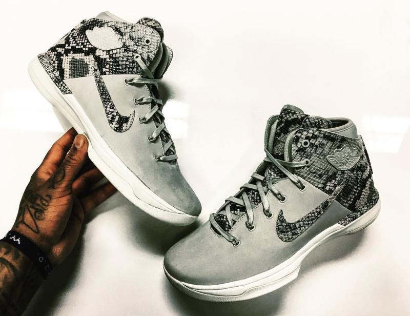 outlet store 78f00 166cd Snakeskin Air Jordan 31s surface courtesy of Nike employee Frank Cooker.